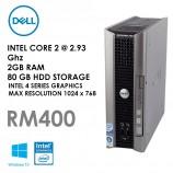(Refurbished) Dell Optiplex 760 USFF Desktop Intel Core Duo E7500 3M Cache 2.93 GHz 1066MHz FSB