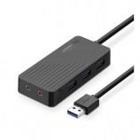 Ugreen 3-Port USB with External Stereo Sound Adapter High Speed 3.0HUB Splitter + Sound Card