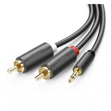 Ugreen AV102rca computer audio cable splitter 3.5 (male) to 2RCA (male) phone audio speaker connection cable