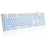 DeLUX K9033 Laptop Desktop Computer Wired Backlight Game Keyboard CF LOL Mechanical Feel