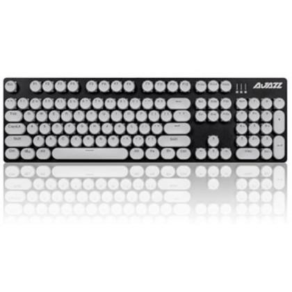 A Jazz Steampunk Type Writer Mechanical Keyboard Round Retro Transparent Diy Keycaps Abs 104 Keys