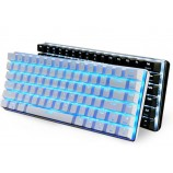 A-JAZZ AK33i Metal Suspension Wired Backlit Gaming Mechanical Keyboard No Punch LOL Black Blue Axis