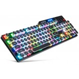 A-JAZZ AK35i Steam Punk Retro Desktop Backlit Gaming RGB Mechanical Keyboard Blue Black Switch