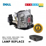 Dell 1410X -330-6183 / 725-10196 / 3TVHC 0965F9 Projector Lamp with housing