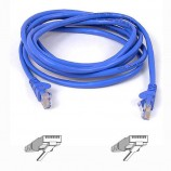 Belkin Ethernet Cable Cat5e Cat5e RJ45 Plug RJ45 Plug 16.4 ft 5 m Blue