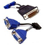 Dell DMS-59 to VGA Splitter For Dual Monitor Setups or as a VGA Adapter Y Cable Cord