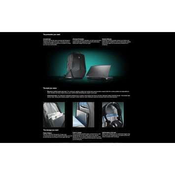 Alienware Vindicator 17 Backpack 0J9G3G AWVBP17 J9G3G