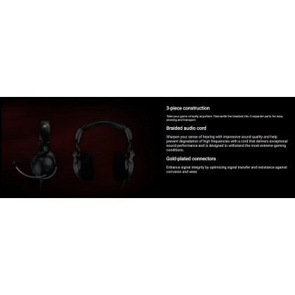Alienware TACTX Headset XJ4GD with Retractable Mic