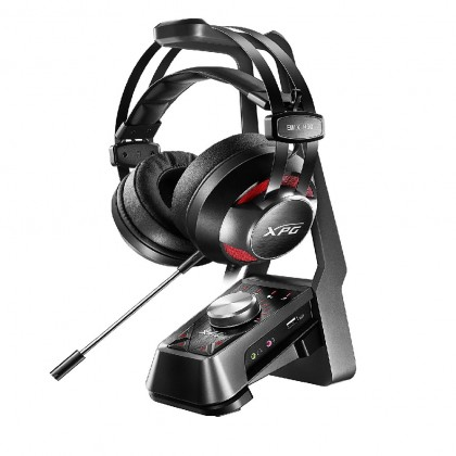 ADATA XPG EMIX H30 Gaming Headset Black/Red XPG SOLOX F30 Amplifier (Black)