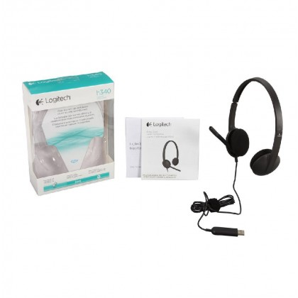 Logitech H340 USB Connector Supra-aural Headset Clear Digital Audio 981-000507