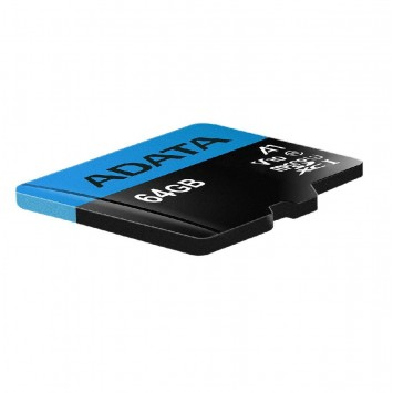 ADATA 64GB Premier microSDXC UHS-I / Class 10 V10 A1 SD Adapter,Speed Up 100MB/s
