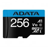 ADATA 256GB Premier microSDXC UHS-I /Class 10 V10 A1 SD Adapter,Speed Up 100MB/s