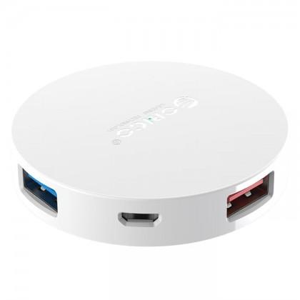Orico HA4U 4-Port Replacement USB 3.0 OTG Hub USB Splitter with DC5V