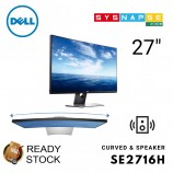 (Open Box) Dell 27 Curved Monitor SE2716H With Speaker Wide Screen LED Thin Bezel