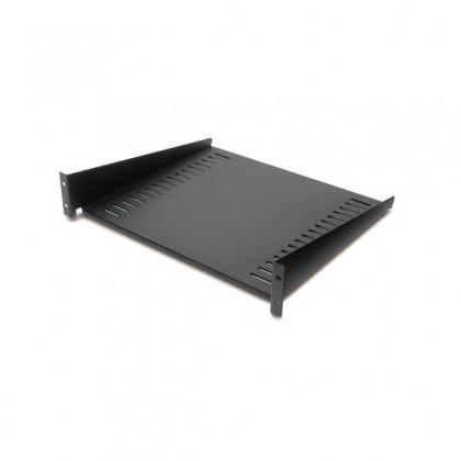 APC NetShelter 50lb Fixed Rack Shelf, Vertical Mounting Rails Black