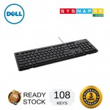 Dell KB216 Wired Multimedia USB Keyboard Chiclet Style Black