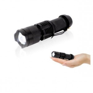Mini CREE Q5 SK68 Zoomable LED Flashlight 14500 Rechargeable Battery Charger
