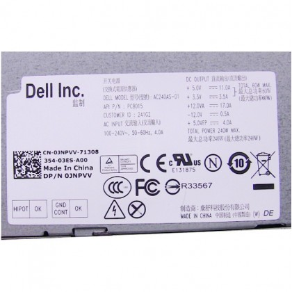 Dell Optiplex 9010 240w Desktop Power Supply Units JNPVV AC240AS-01
