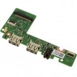 Dell Inspiron 11 3185 USB Audio Port IO Circuit Board Daughterboard M5MD4