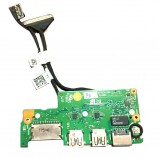 Dell Vostro 14 5471 USB Card Reader Ethernet Port Board W/ Cable 35KPW 035KPW
