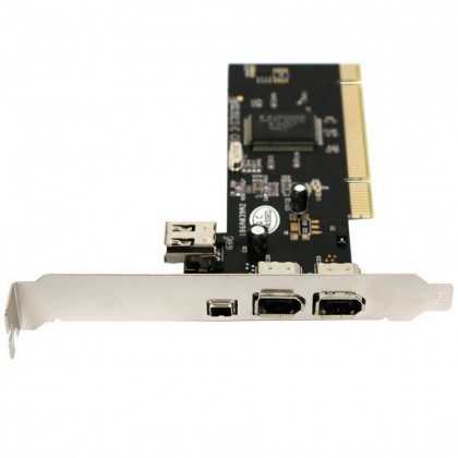 PCI Combo 1394A 4 Ports Controller Card Extension Adapter IEEE 1394 Cable Firewire Computer 536CD