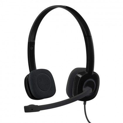 Logitech H151 Headset with Noise-Cancelling Boom Microphone 3.5 mm