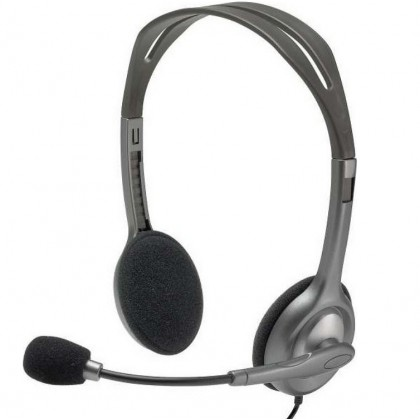 Logitech H111 Stereo Sound Headset Rotating Microphone 981-000593