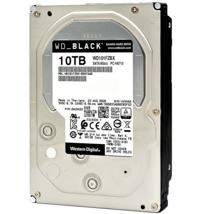 "Western Digital WD101FZBX 10TB Black 3.5"" 7200RPM SATA3 Hard Drive"
