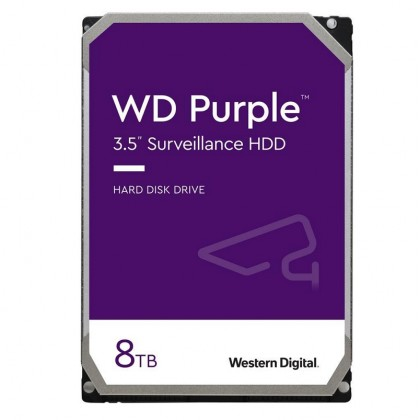 "WD Purple WD82PURZ 8TB 7200 RPM 256MB Cache SATA 6.0Gb/s 3.5"" Internal Hard Drive Bare Drive"