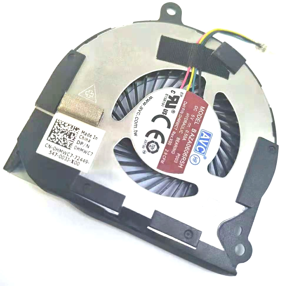 Dell Latitude E7450 CPU Cooling Fan HMWC7 0 50A 2 9CFM 5V 0HMWC7